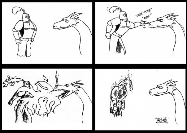 Comic__Knight_and_Dragon_by_DwarvenArchitect